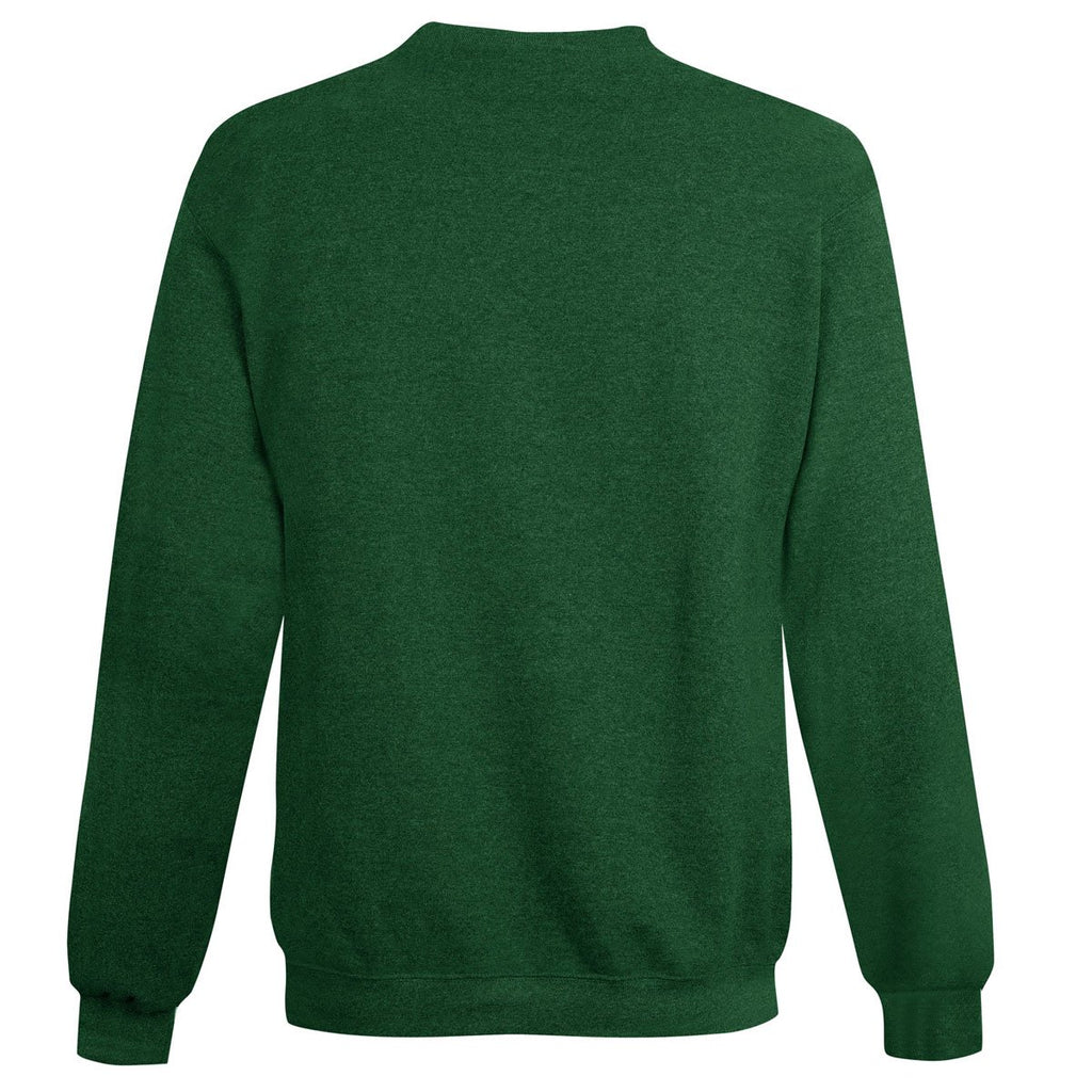 Champion Men's Dark Green Heather Double Dry ECO Fleece Crew