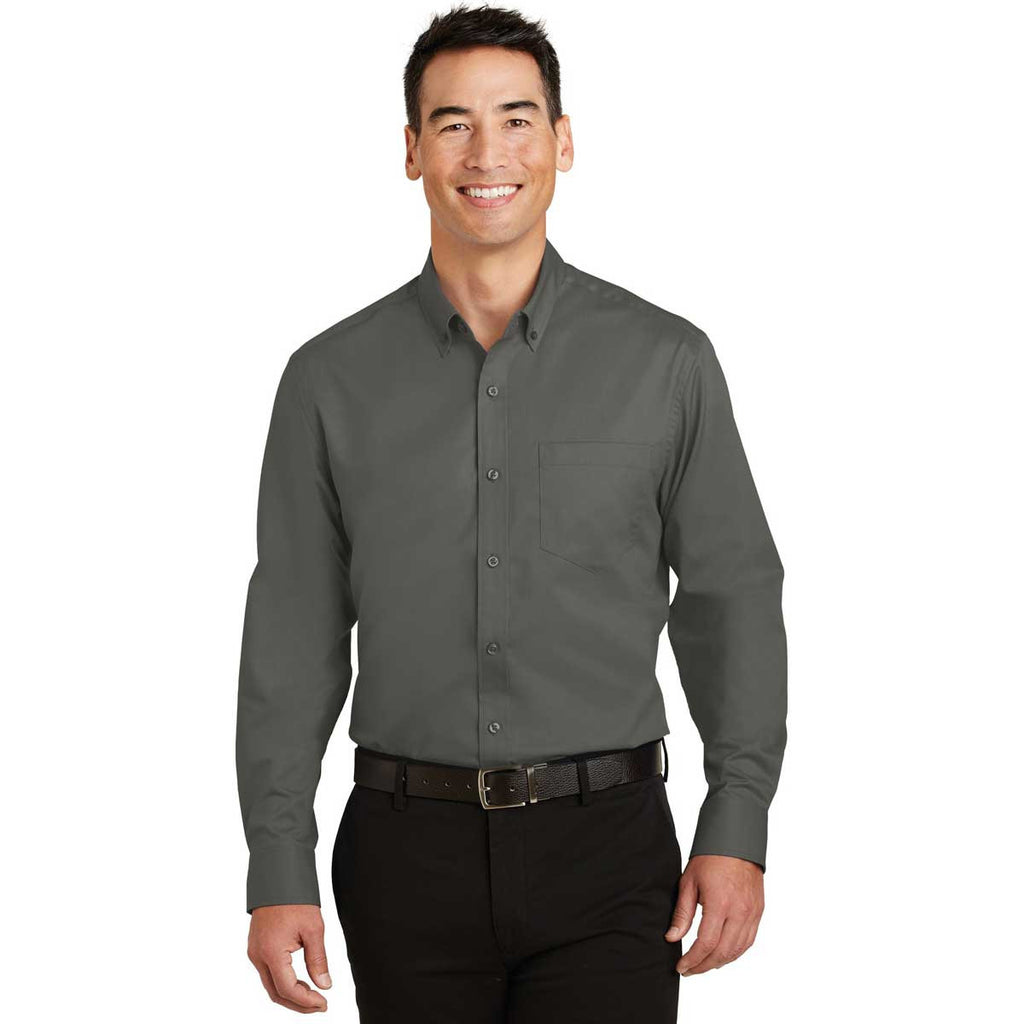 Port Authority Men's Sterling Grey SuperPro Twill Shirt