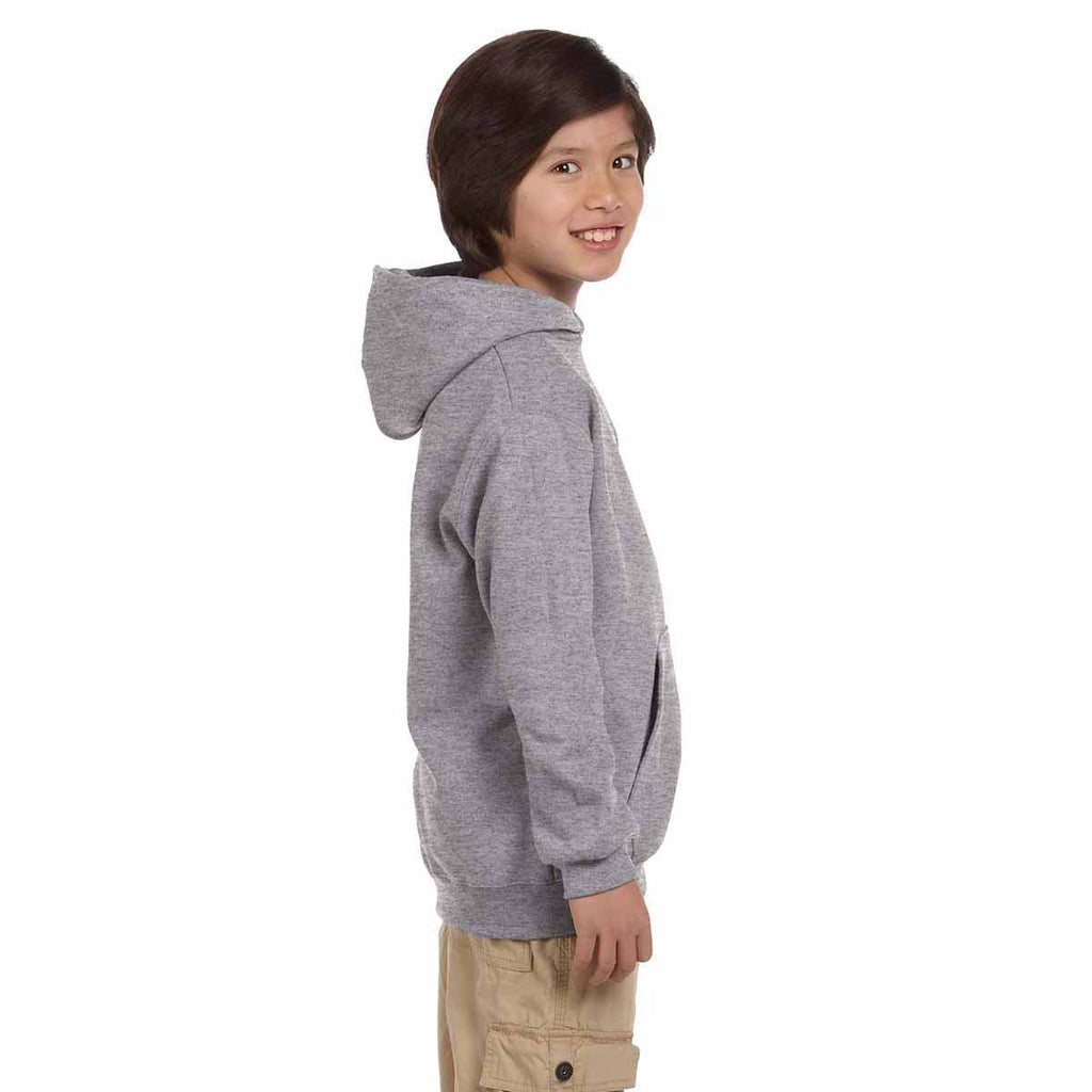 Champion Youth Light Steel Double Dry ECO Fleece Hood