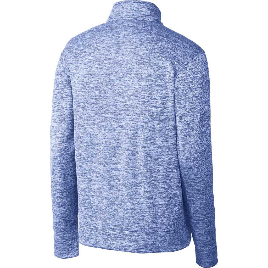 Sport-Tek Men's True Royal PosiCharge Electric Heather Fleece 1/4-Zip Pullover