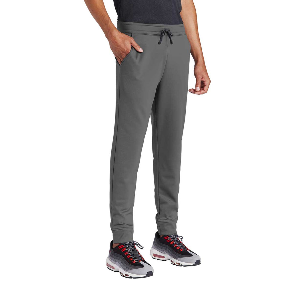 Sport-Tek Men's Dark Smoke Grey Sport-Wick Fleece Jogger
