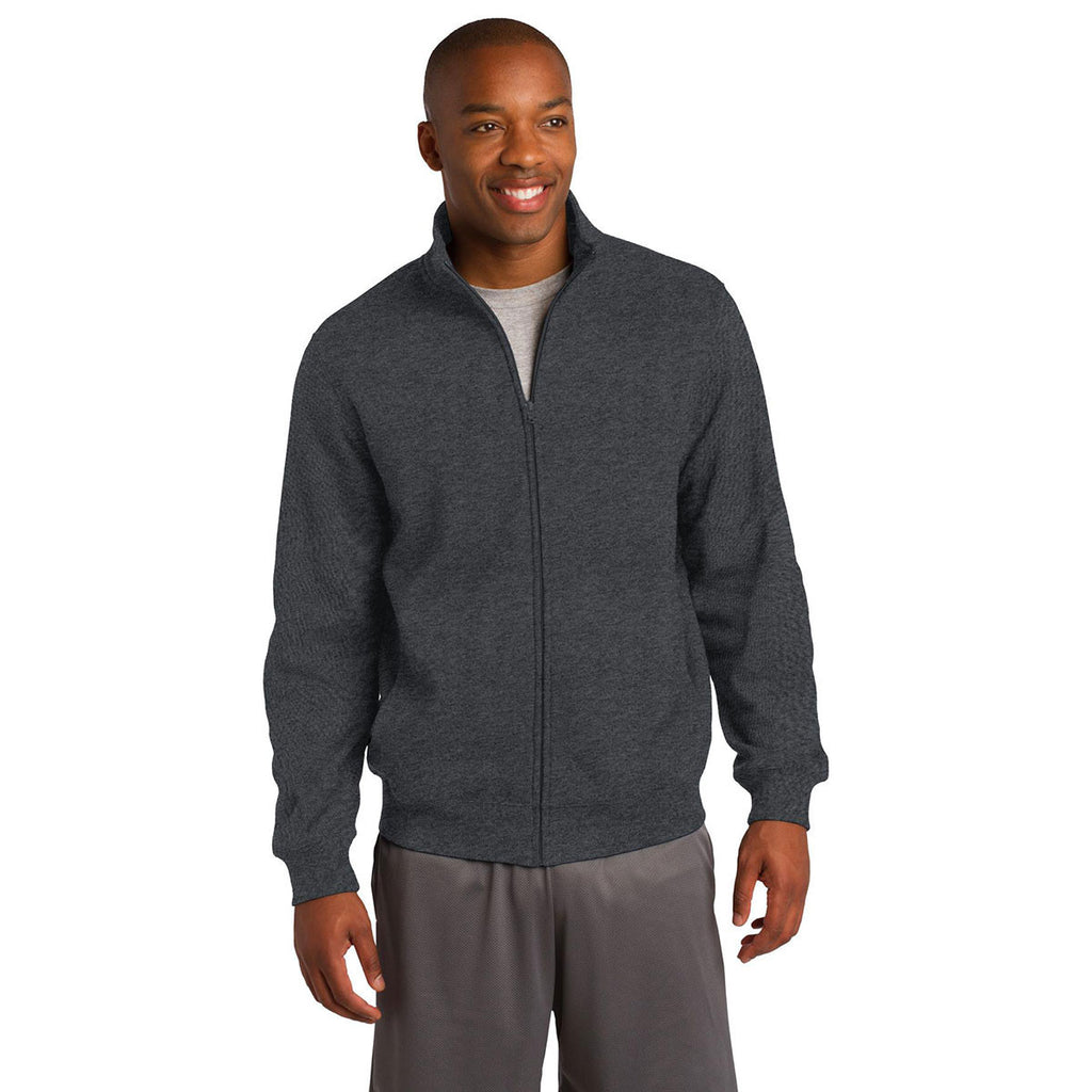 Sport-Tek Men's Graphite Heather Full-Zip Sweatshirt