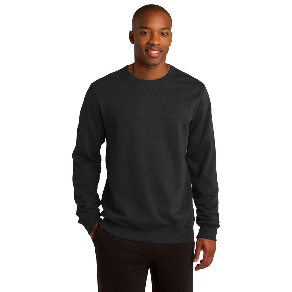 Sport-Tek Men's Black Crewneck Sweatshirt
