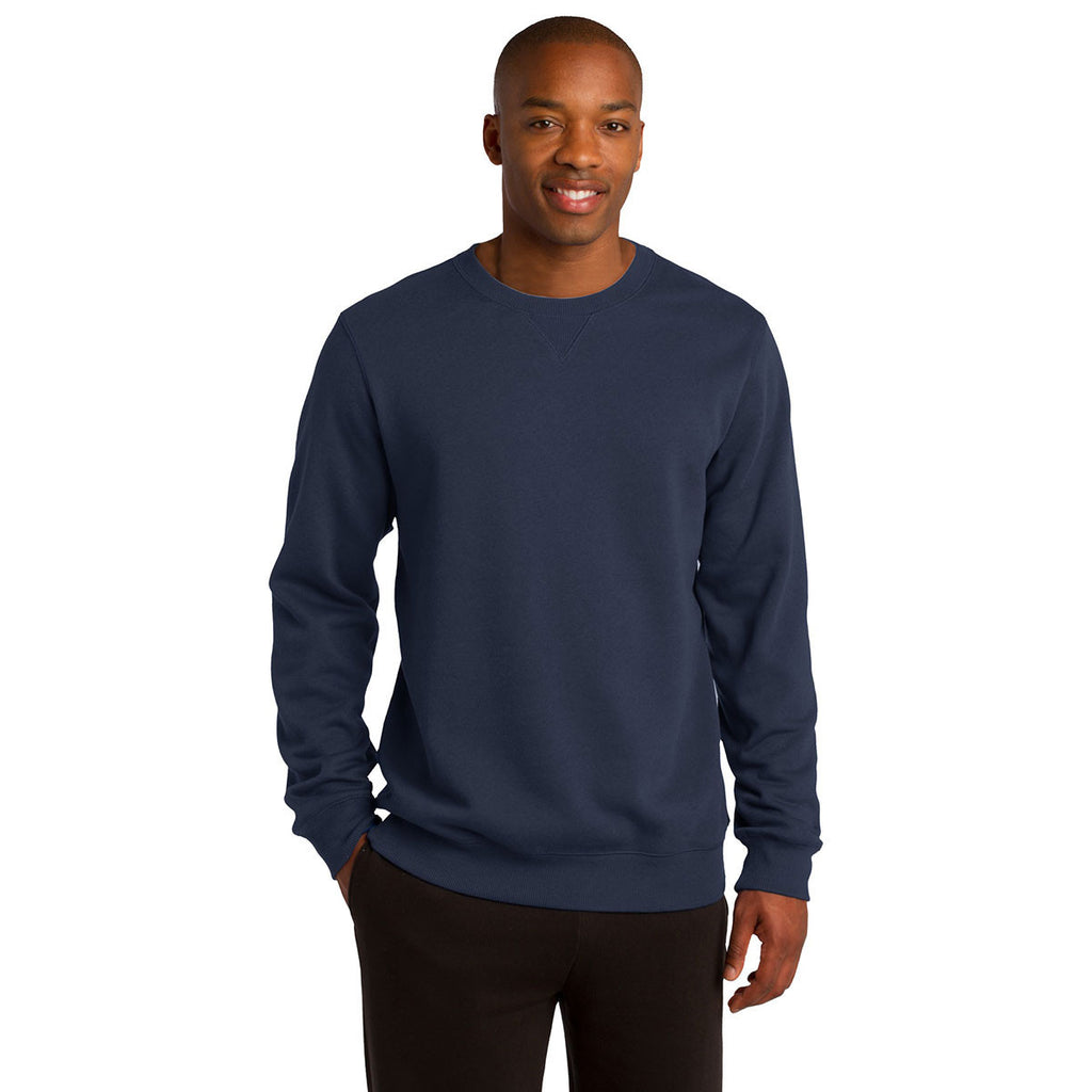 Sport-Tek Men's True Navy Crewneck Sweatshirt