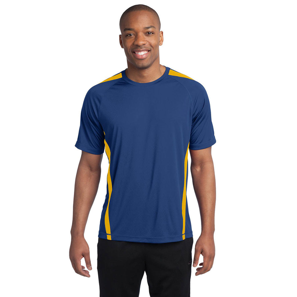 Sport-Tek Men's True Royal/Gold Colorblock PosiCharge Competitor Tee