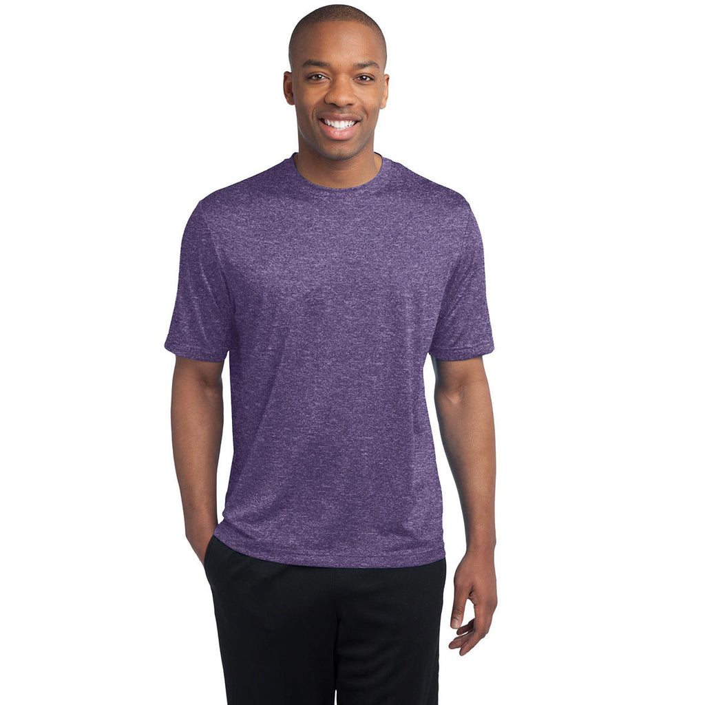 Sport-Tek Men's Purple Heather Contender Tee