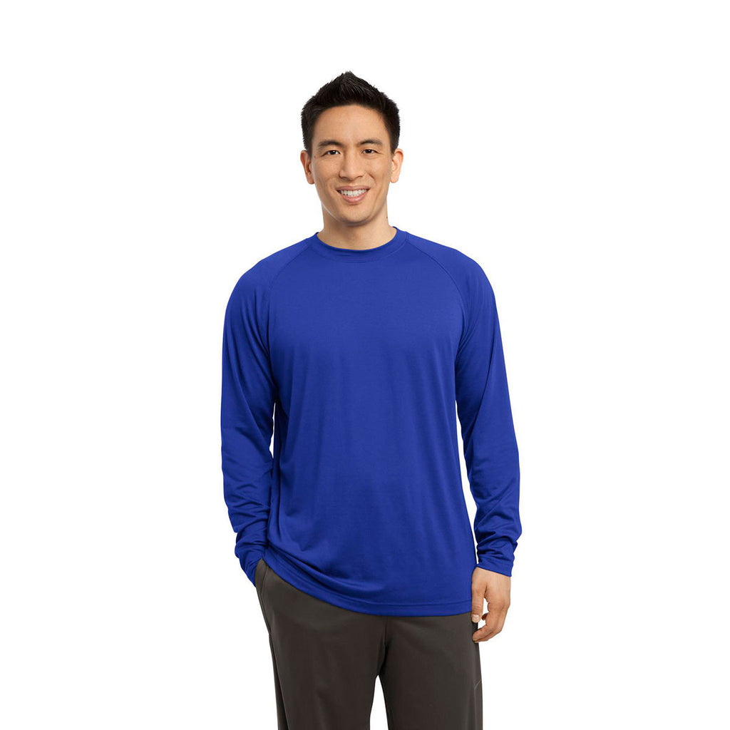 Sport-Tek Men's True Royal Long Sleeve Ultimate Performance Crew