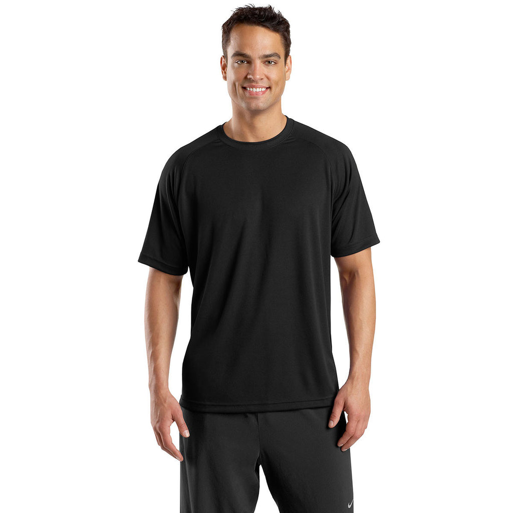 Sport-Tek Men's Black Dry Zone Short Sleeve Raglan T-Shirt