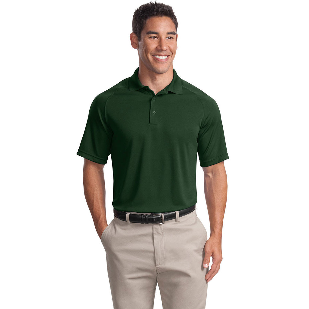 Sport-Tek Men's Forest Green Dry Zone Raglan Polo