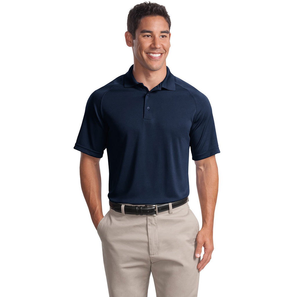 Sport-Tek Men's True Navy Dry Zone Raglan Polo