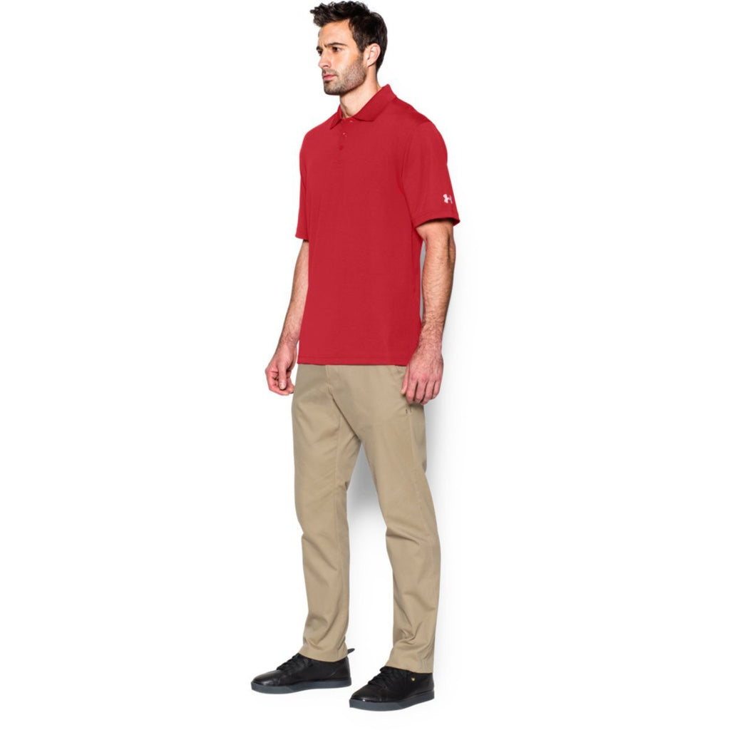 Under Armour Corporate Men's Red Performance Polo
