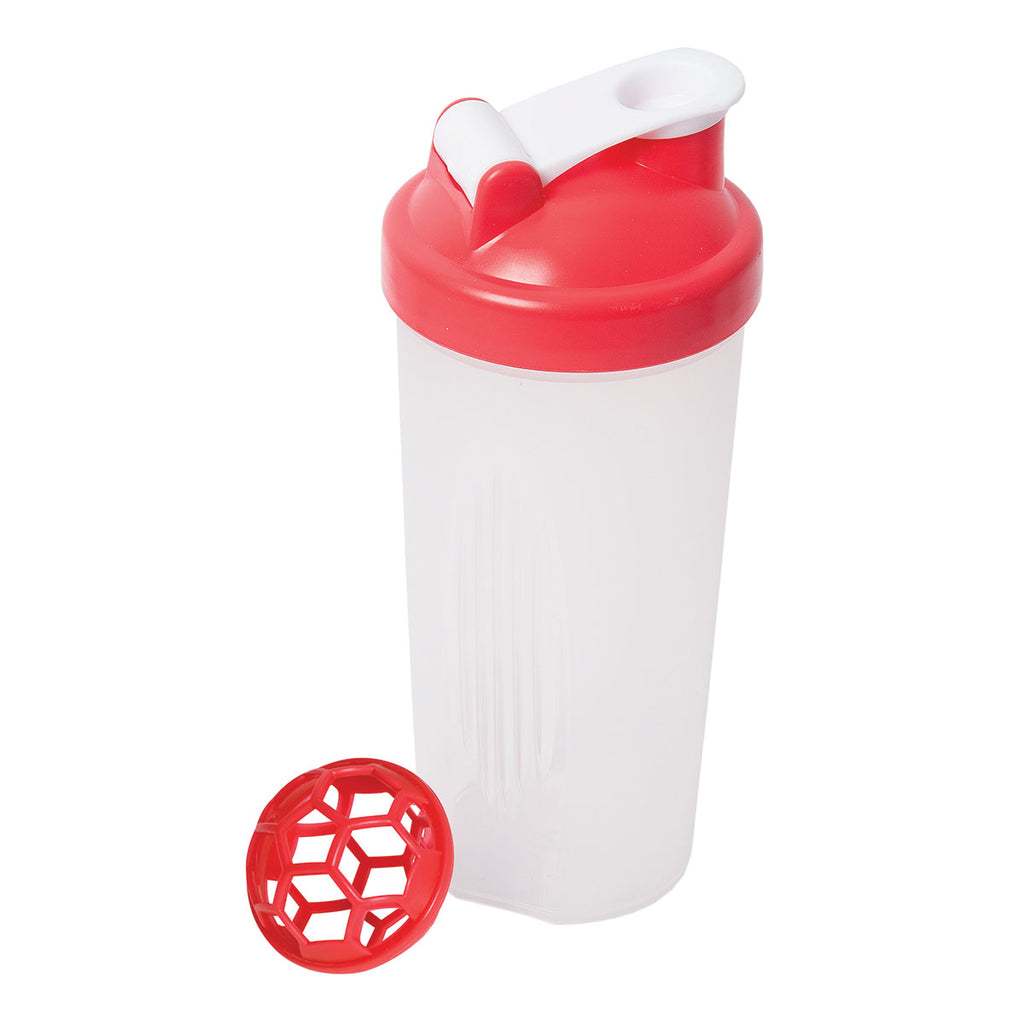 Debco Clear Red Cross Trainer Max Large Shaker Bottle 600 Ml 20 Oz