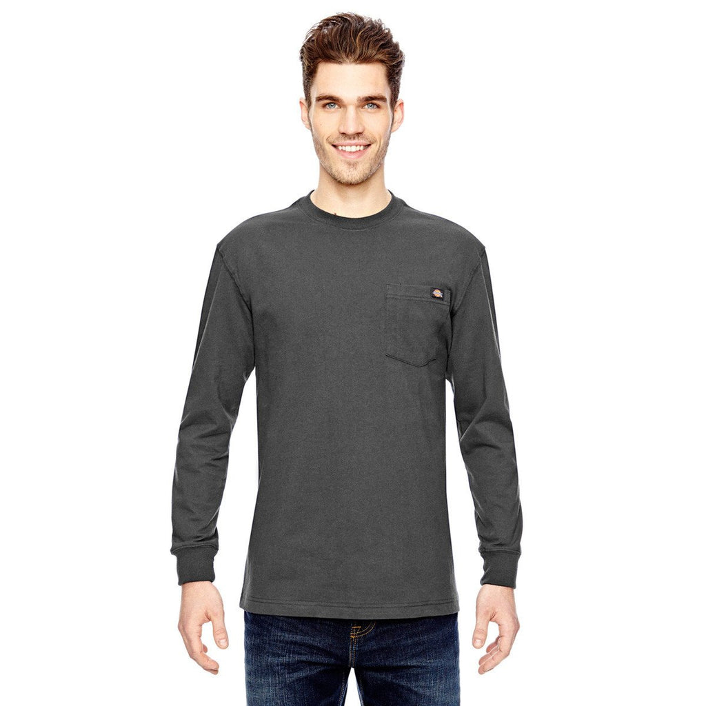 be983af6810a Dickies Men's Charcoal 6.75 oz. Heavyweight Work Long Sleeve Tall Work T- Shirt. ADD YOUR LOGO