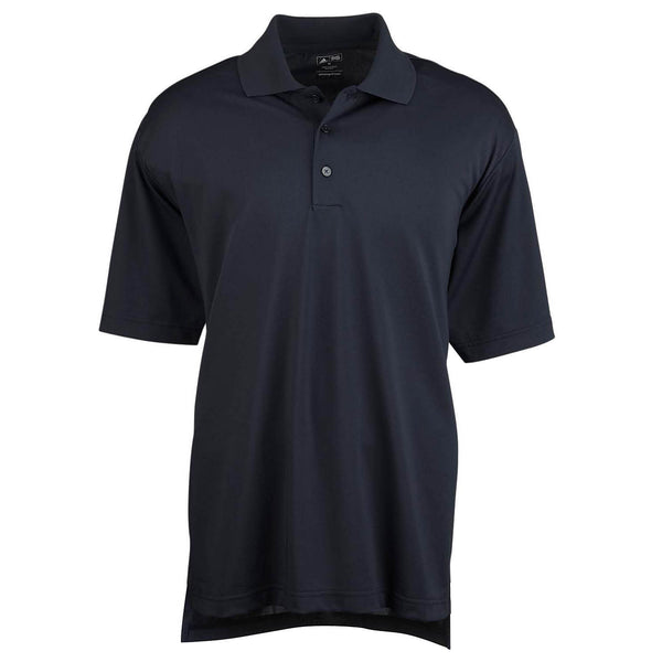 adidas Golf Men's ClimaLite Black S/S Poly Pique Polo
