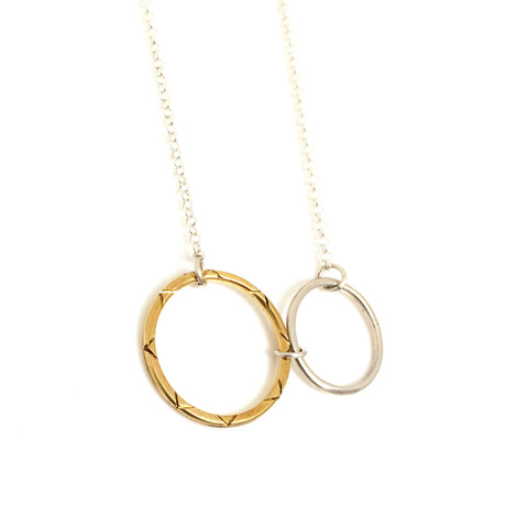 Celesta Collection | Sun & Moon Pendant (large)