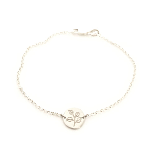Greenhouse Collection | Silver Dollar Eucalyptus 925 Silver Bracelet
