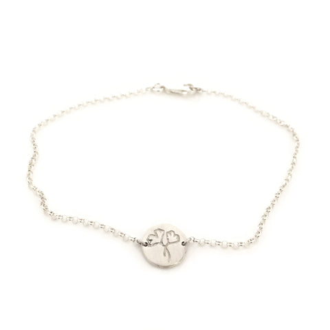 Greenhouse Collection | Ginkgo Biloba 925 Silver Bracelet