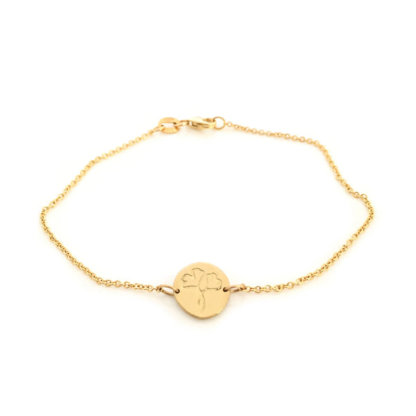 Greenhouse Collection | Ginkgo Biloba 9ct Yellow Gold Bracelet