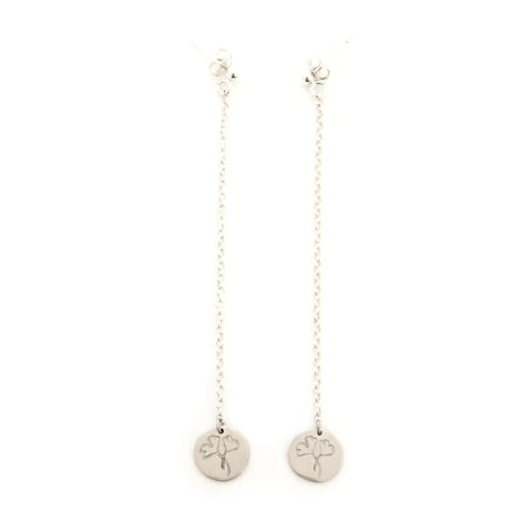 Greenhouse Collection | Ginkgo Biloba 925 Silver Earrings