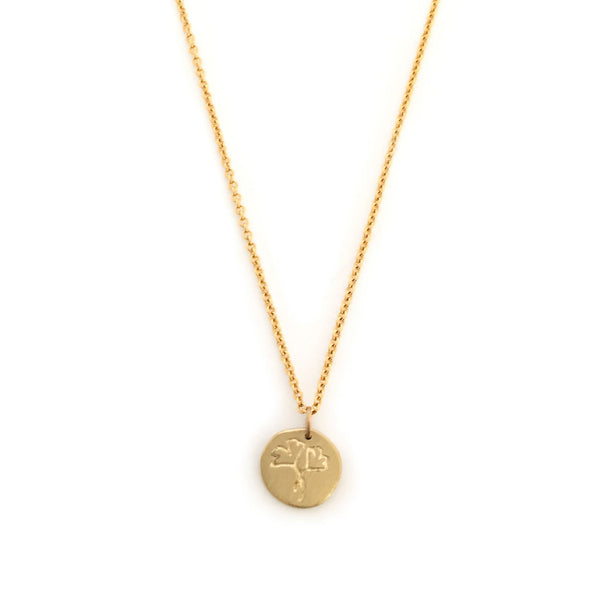 Greenhouse Collection | Ginkgo Biloba 9ct Yellow Gold Pendant