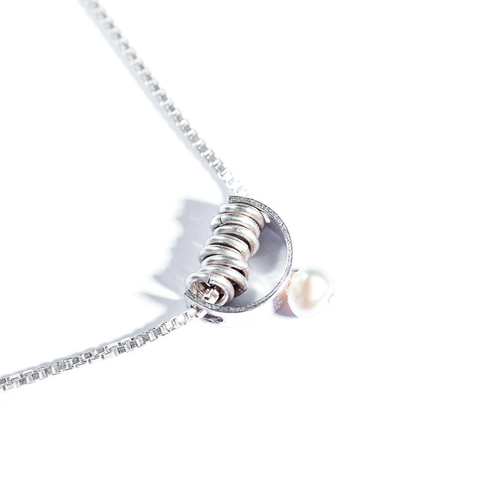 Silver & Freshwater Pearl Pendant (Jump Rings)
