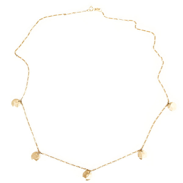 9ct Yellow Gold Rustic Neckpiece