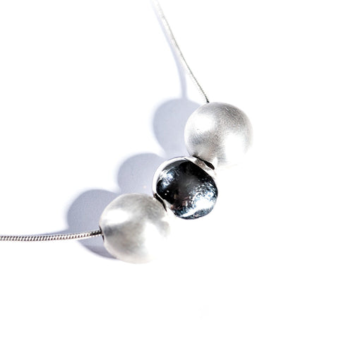 Silver Three Sphere Neckpiece