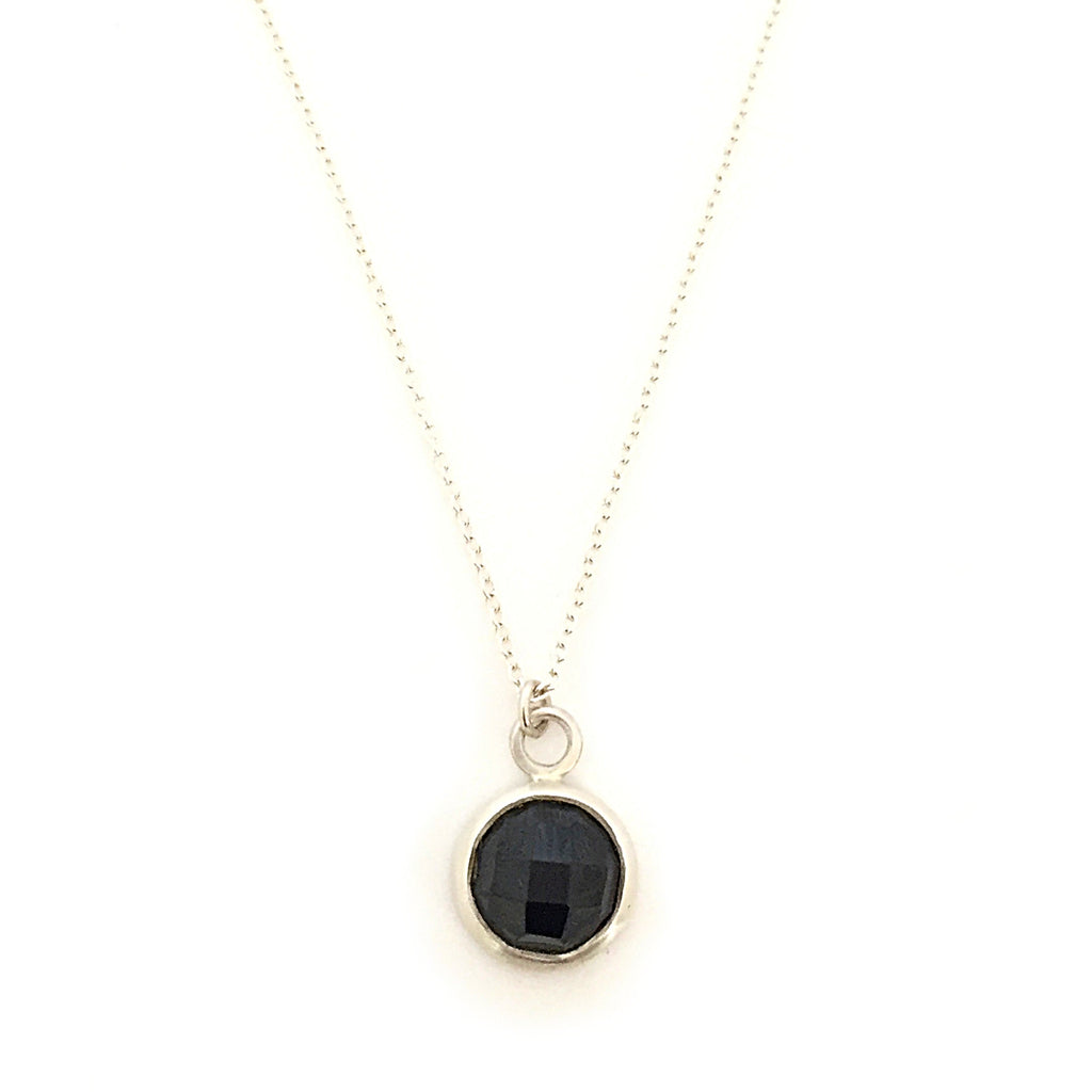 Silver & Round Spinel Pendant