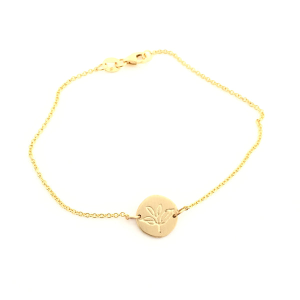 Greenhouse Collection | Tea Plant 9ct Yellow Gold Bracelet