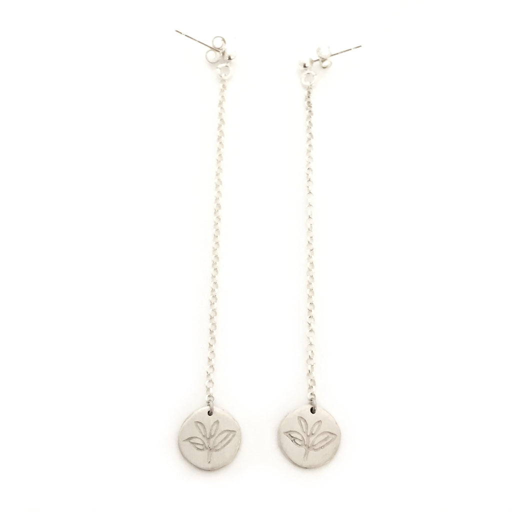 Greenhouse Collection | Tea Plant 925 Silver Earrings