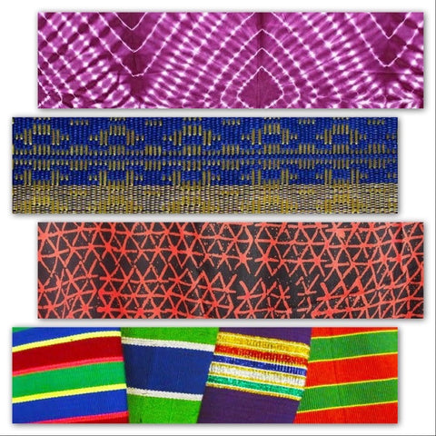 Traditional African cloth: Adire (Tie-Dye), Aso-Oke