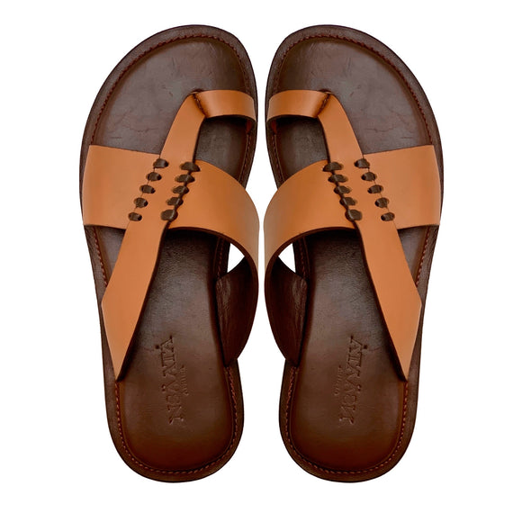 IMANA brown slippers-Slippers-NSAATA