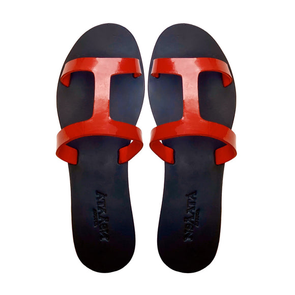 IBUKUN Basic red slippers-Slippers-NSAATA