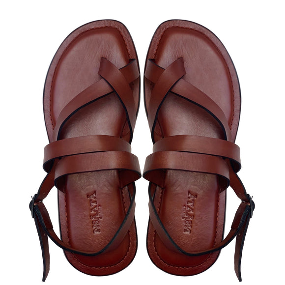 UCHE brown sandals-Sandals-NSAATA