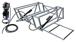 Steel Frame Race Car Lift And Pump