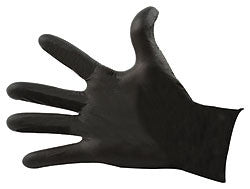 Black Nitrile Gloves Med