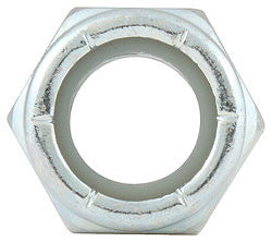"Coarse Thread Hex Nuts With Nylon Insert, 1/2""-13"