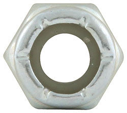 "Coarse Thread Hex Nuts Thin With Nylon Insert, 1/4""-20"