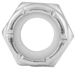 "Coarse Thread Hex Nuts Thin With Nylon Insert, 5/16""-18"