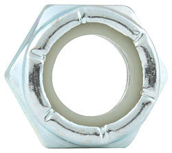 "Coarse Thread Hex Nuts Thin With Nylon Insert, 1/2""-13"