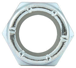 "Fine Thread Hex Nuts With Nylon Insert, 1/2""-20"