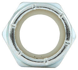 "Fine Thread Hex Nuts Thin With Nylon Insert, 5/8""-18"