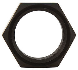 "3/4""-16 RH Thin OD Black Aluminum Jam Nuts"
