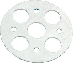 "Lightweight Aluminum Scuff Plates With 3/8"" Hole, .0375"" Thick, 1-5/8"" O.D."