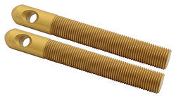 "Replacement Aluminum Hood Pins, 1/2"" Gold"