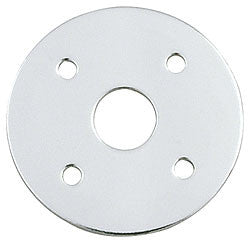 "Aluminum Scuff Plates With 3/8"" Hole, .0375"" Thick, 1-1/2"" O.D."