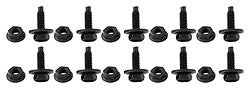 "Body Bolt Kit 3/4"" UHL x 1/4""-20, Black"