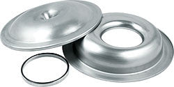 "14"" Offset Base Aluminum Air Cleaner Kit With 1/2"" Spacer, Plain"