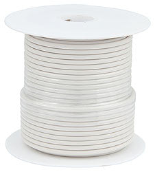 Primary Wire, White, 100' Spool, 14AWG