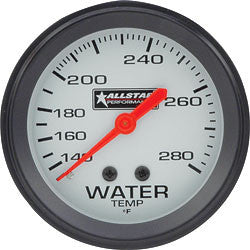 Allstar Water Temp Gauge 140-280 Degree